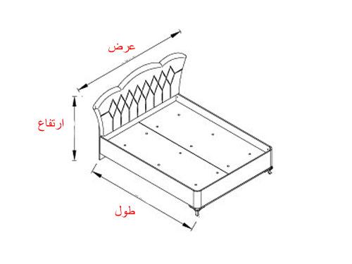 ابعاد تخت