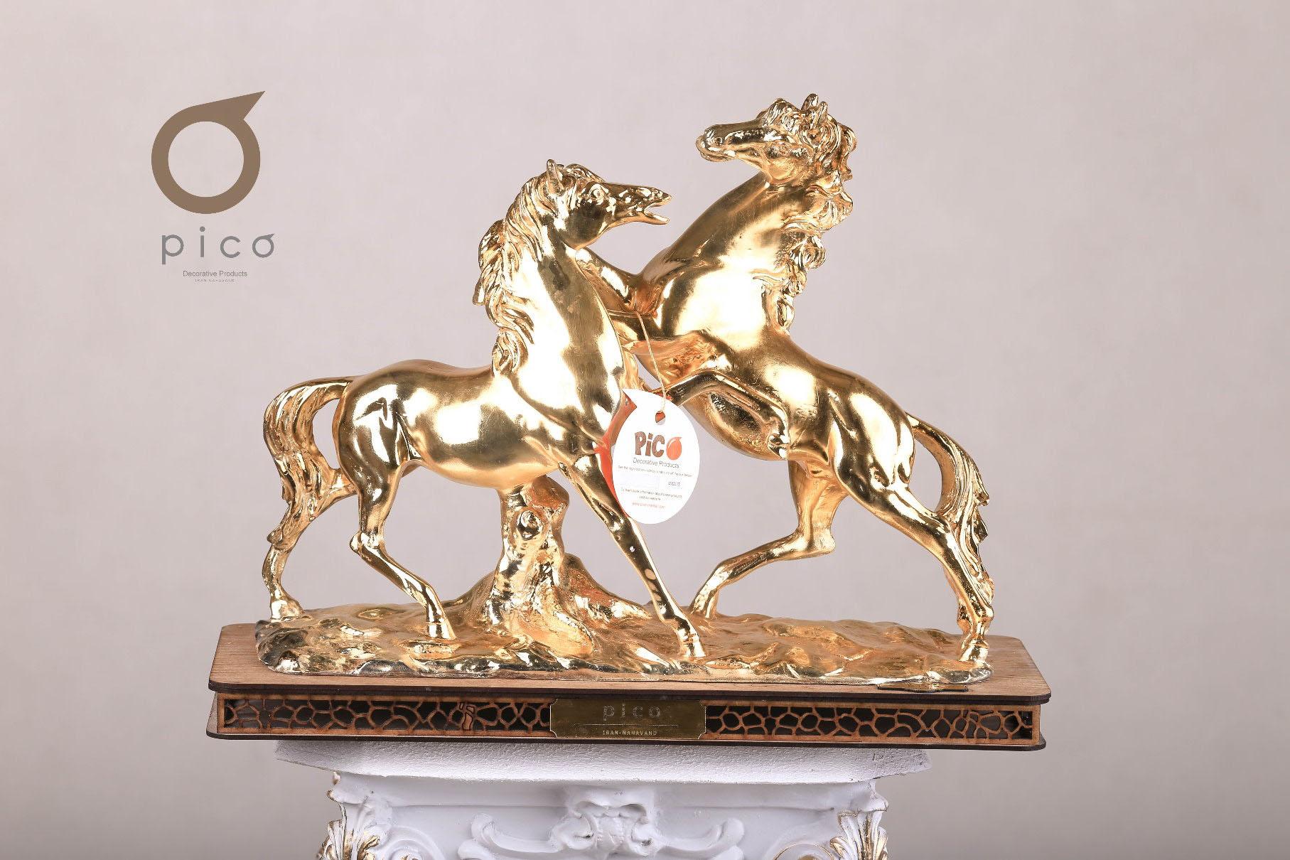 تندیس دو اسب (یک بار آبکاری شده)